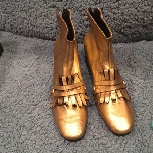 Gold Rachel Comey Boots in box size 6.5